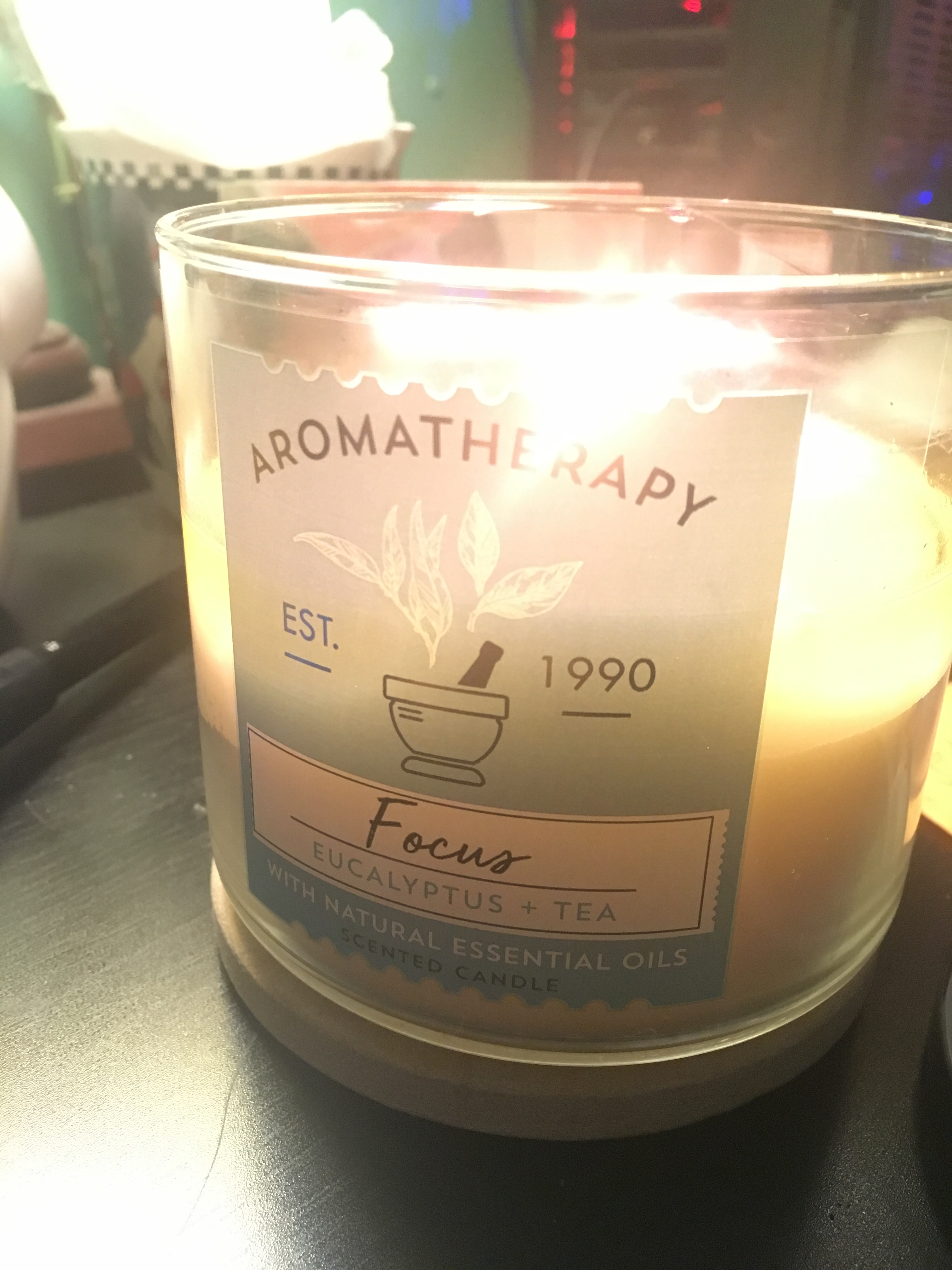 """Aromatherapy candle called """"Focus"""""""